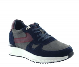 Elevator Sneakers Men - Blue - Nubuk / Leather - +3.0'' / +7,5 CM - Montisi - Mario Bertulli