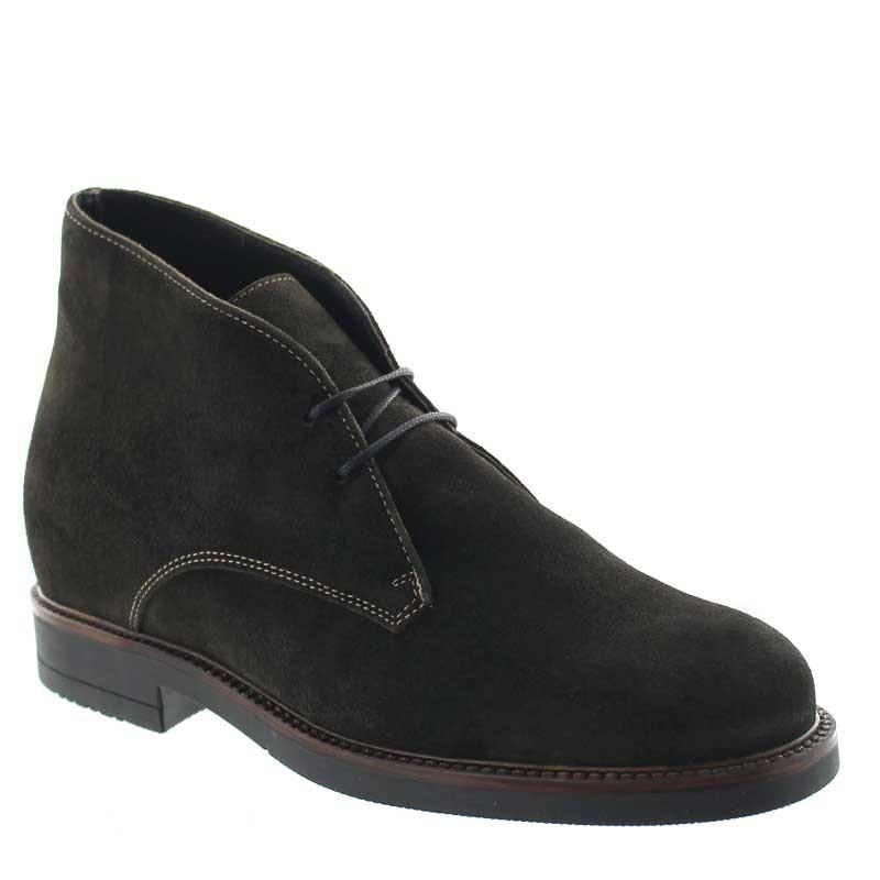 Elevator Boots Men - Brown - Leather - +3.2'' / +8 CM - Tione - Mario Bertulli