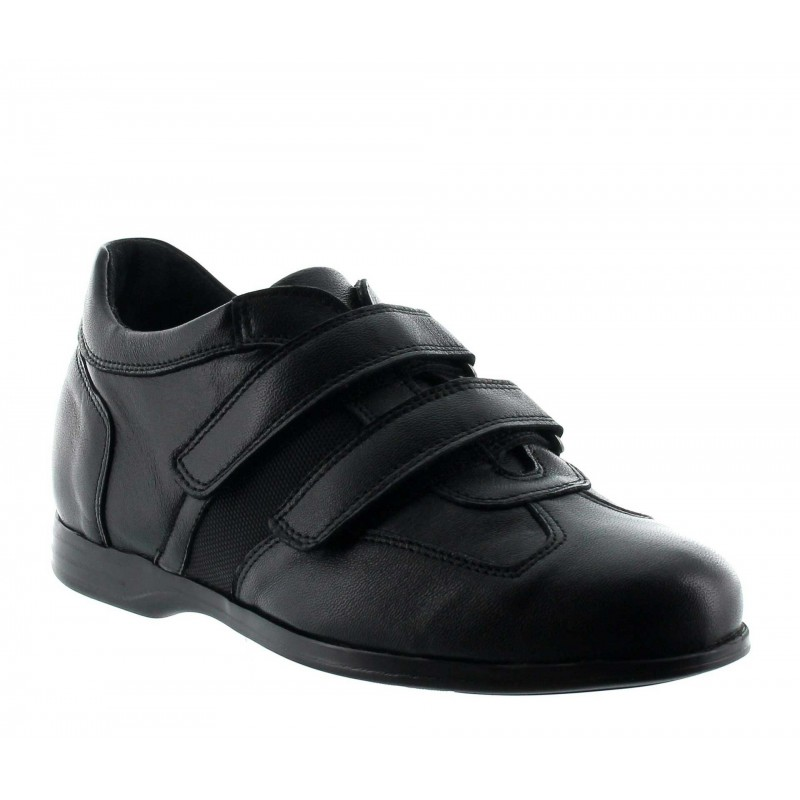 Elevator Sports Shoes Men - Black - Nappa lambskin - +2.4'' / +6 CM - Adro - Mario Bertulli