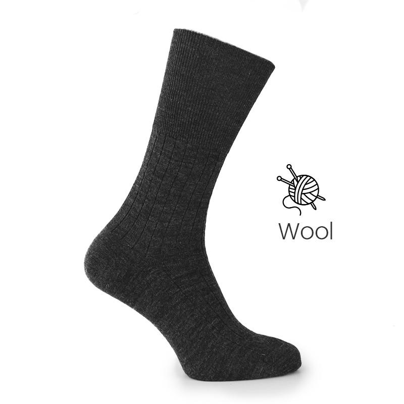 Anthracite socks - Luxury Wool Socks Men from Mario Bertulli - specialist in height increasing shoes