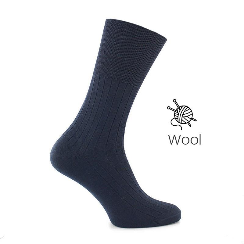 Blue wool socks - Luxury Wool Socks Men from Mario Bertulli - specialist in height increasing shoes