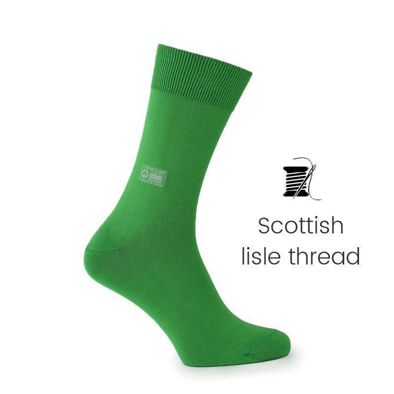 Mint Scottish lisle thread socks - Scottish Thread Socks from Mario Bertulli - specialist in height increasing shoes