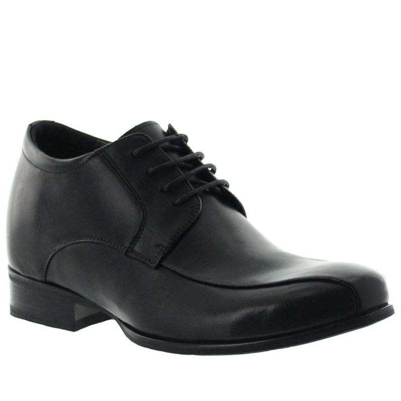 Cesio Height Increasing Derby Shoes Black +7cm