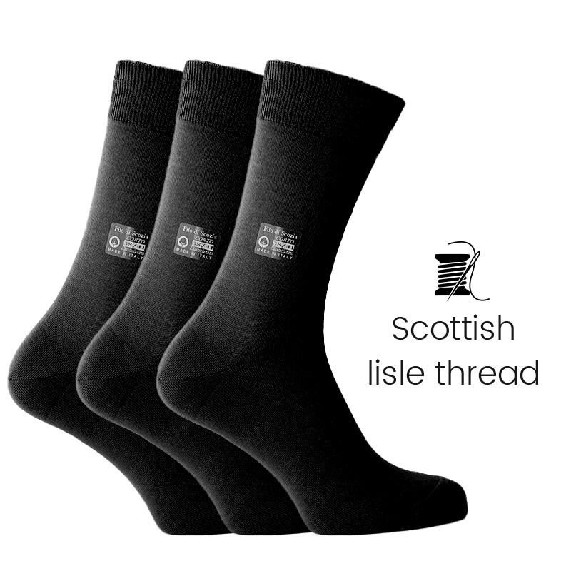 3 pairs black socks box - Luxury Men's Socks Online from Mario Bertulli - specialist in height increasing shoes