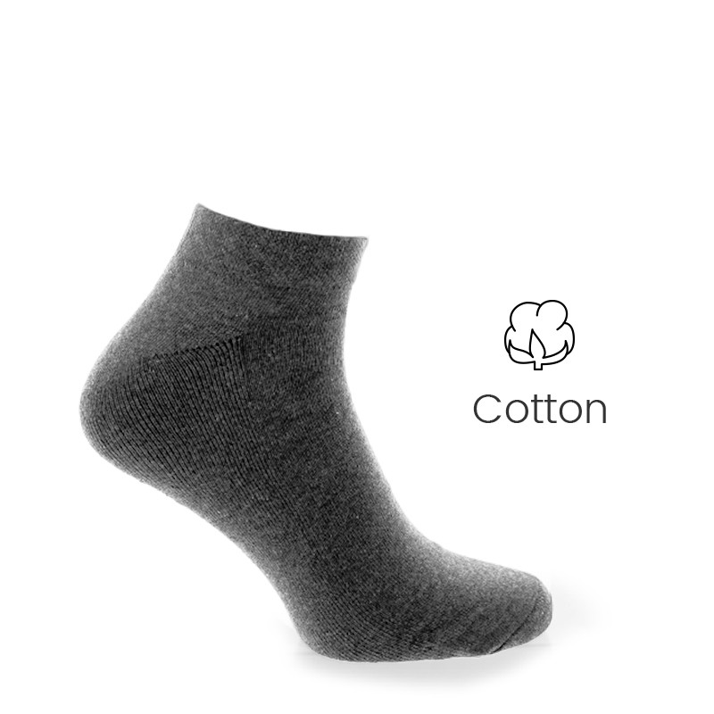 Sport socks anthracite - Luxury Sports Socks from Mario Bertulli - specialist in height increasing shoes