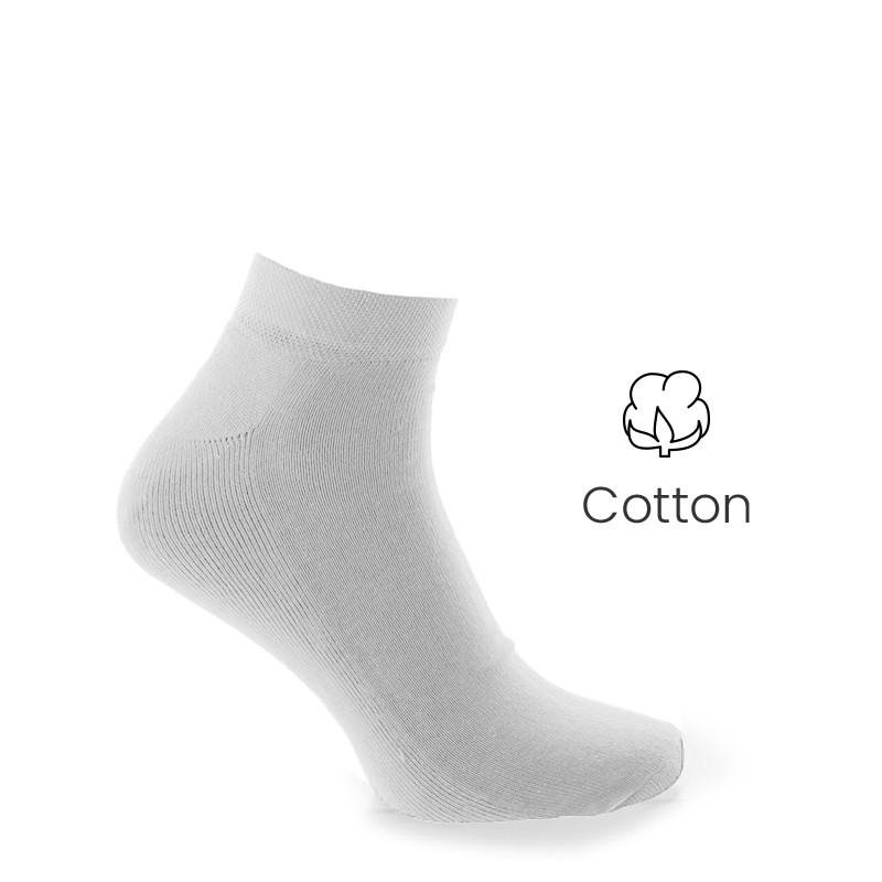 Sport socks white - Luxury Sports Socks from Mario Bertulli - specialist in height increasing shoes