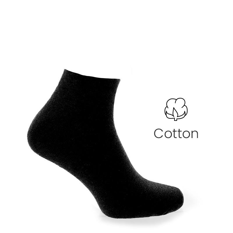 Sport socks black - Luxury Sports Socks from Mario Bertulli - specialist in height increasing shoes