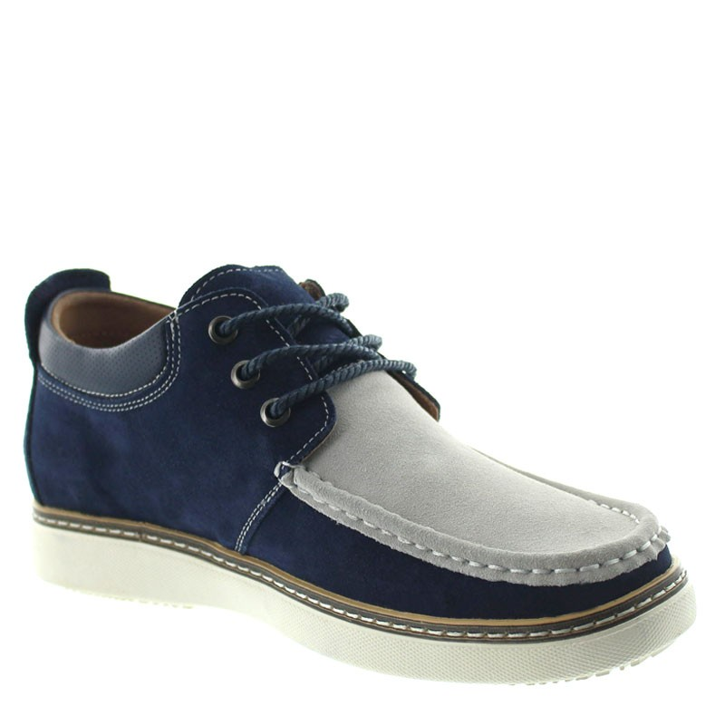 Pistoia Height Increasing Shoes Navy Blue/grey +5.5cm