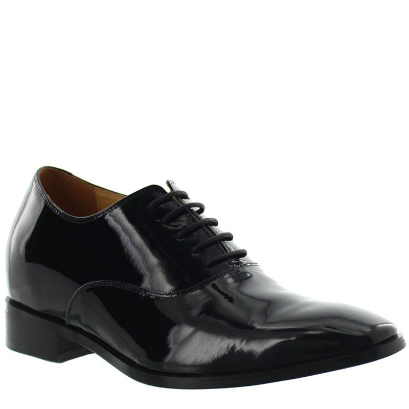Romolo Height Increasing Shoes Patent Black +7.5cm
