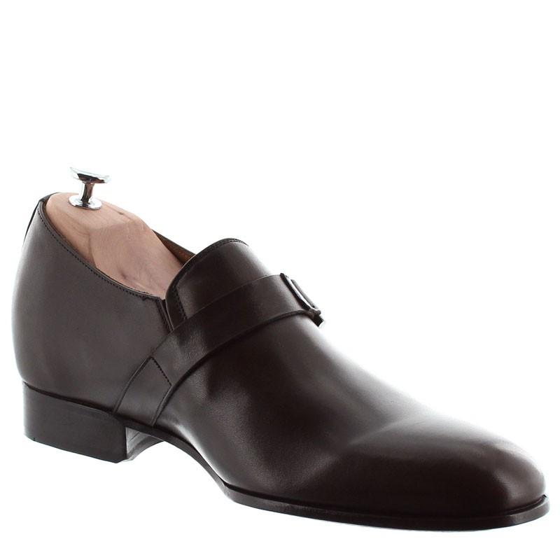 Elevator Loafers Men - Brown - Full grain calf leather - +2.4'' / +6 CM - Coni - Mario Bertulli