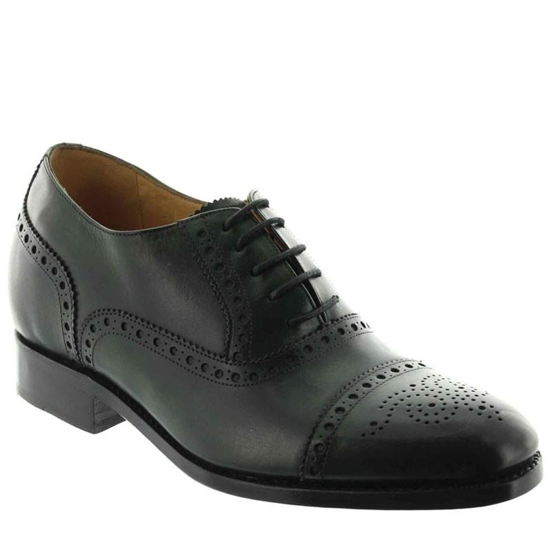 Elevator Oxfords Shoes Men - Green - Full grain calf leather - +2.4'' / +6 CM - Stefano - Mario Bertulli