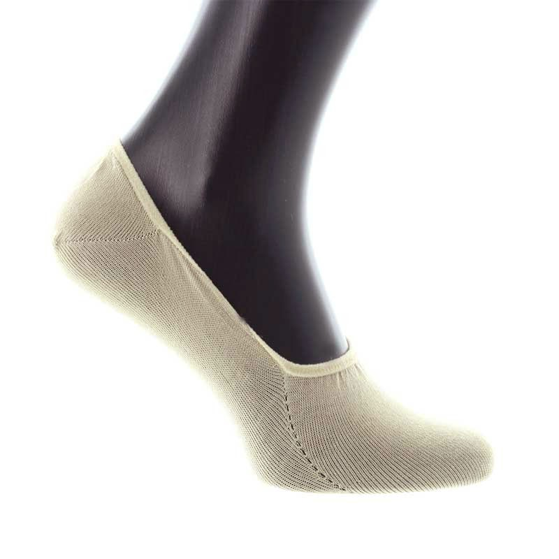 White invisible Scottish lisle thread socks