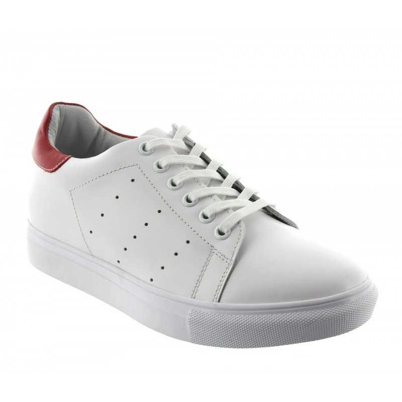 PORTOVENERE SPORTSHOE WHITE/RED +5CM