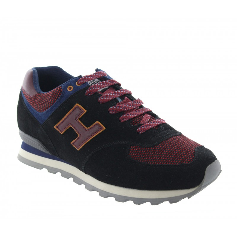 Elevator Sports Shoes Men - Black - Nubuk / Fabric - +2.4'' / +6 CM - Vernante - Mario Bertulli