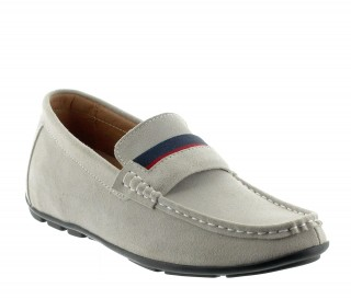 Elevator Loafers Men - Light gray - Nubuk - +2.0'' / +5 CM - Sardegna - Mario Bertulli