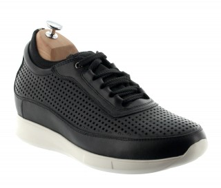 Elevator Sports Shoes Men - Black - Cuir/microfibre - +2.4'' / +6 CM - Cortina - Mario Bertulli