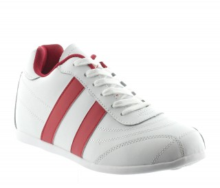Sorrento Height Increasing Sports Shoes White/Red  +5cm