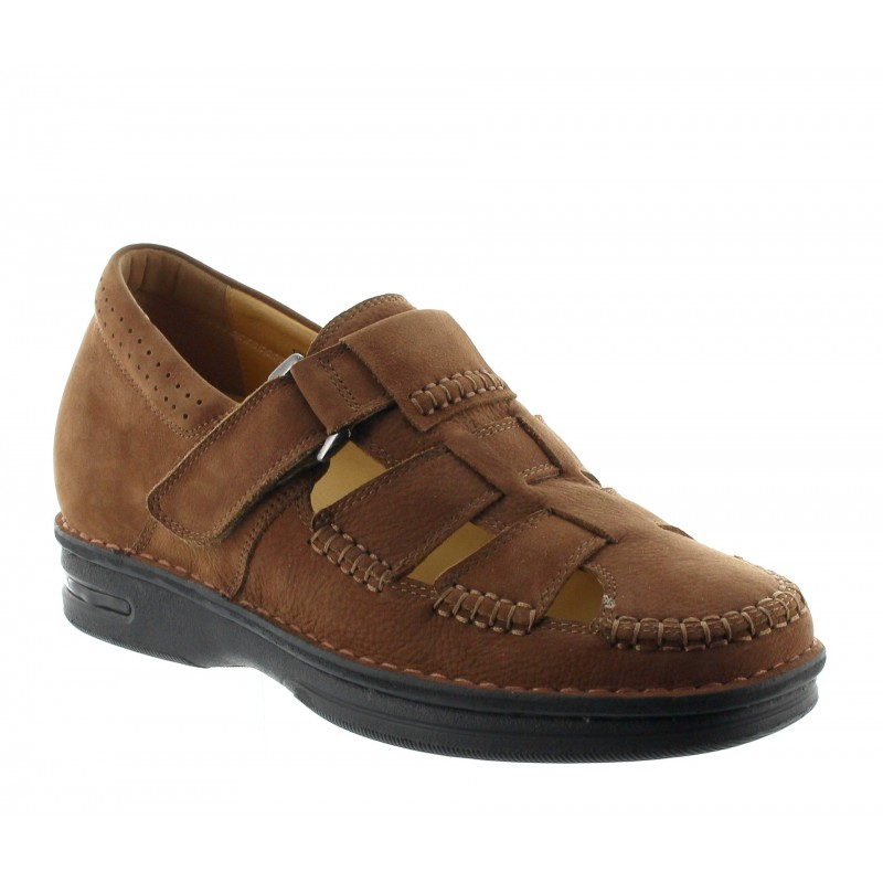 SELLERO SHOES BROWN +7CM