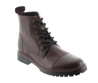 Salerno height increasing boots brown mahogany