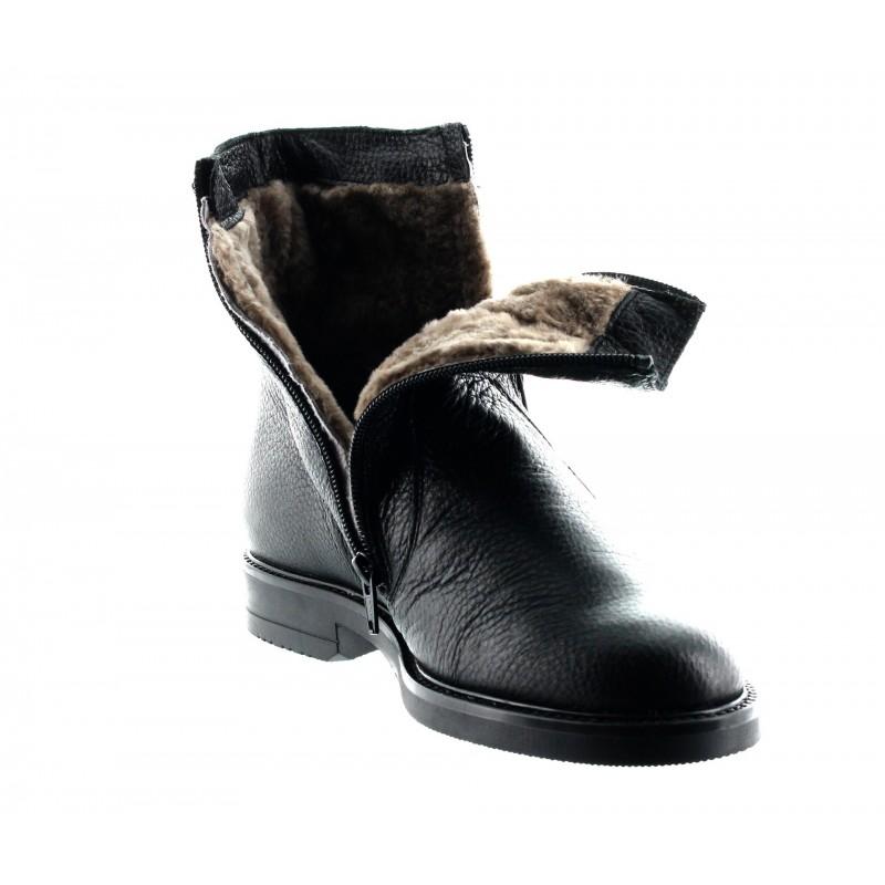 Elevator Boots Men - Black - Lamb leather - +2.6'' / +6,5 CM - Isernia - Mario Bertulli