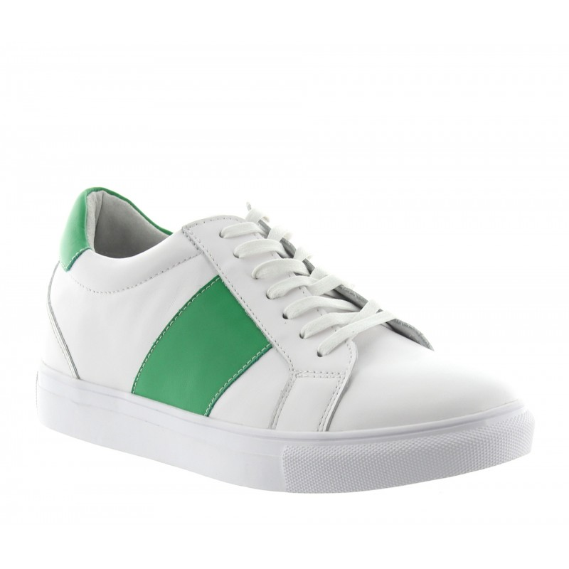 BAIARDO SPORT SHOES WHITE/GREEN +5.5CM