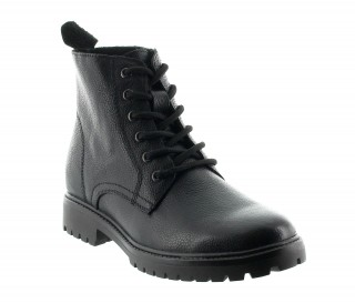 Andria height increasing boots in black