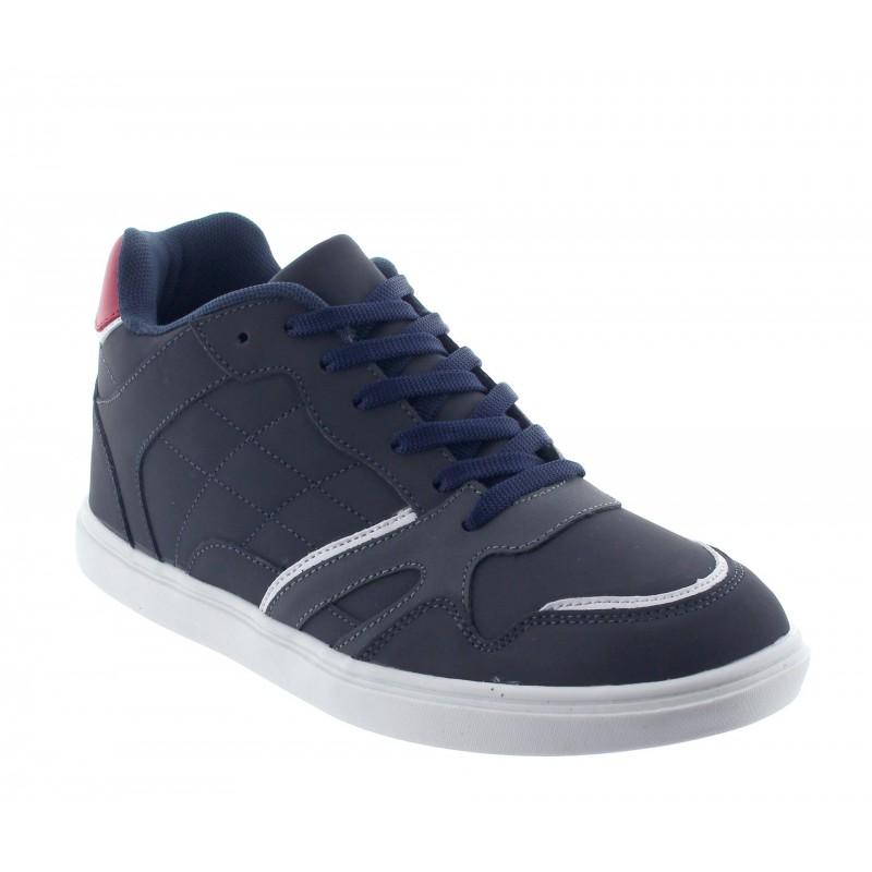 Elevator Sports Shoes Men - Blue - Leather / Fabric - +2.2'' / +5,5 CM - Procida - Mario Bertulli