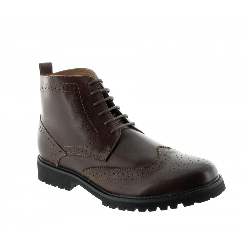Elevator Boots Men - Brown - Leather - +2.8'' / +7 CM - Abetone - Mario Bertulli