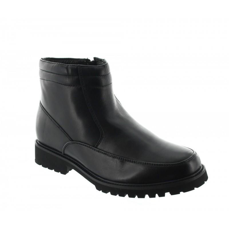 Elevator Boots Men - Black - Leather - +2.8'' / +7 CM - Sutera - Mario Bertulli