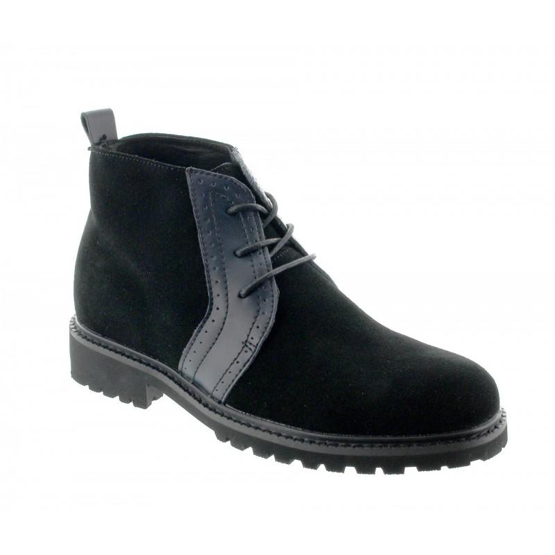 Elevator Boots Men - Black - Nubuk / Leather - +2.8'' / +7 CM - Cipirello - Mario Bertulli