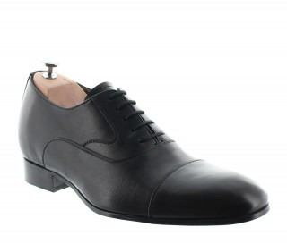 Elevator Oxfords Shoes Men - Black - Full grain calf leather - +2.4'' / +6 CM - Brescia - Mario Bertulli