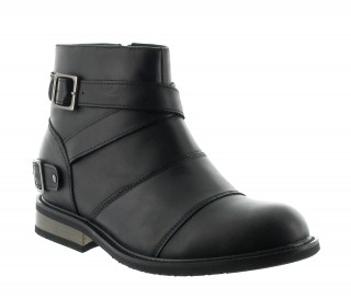 Perugia Height Increasing Boots Black +6.5cm