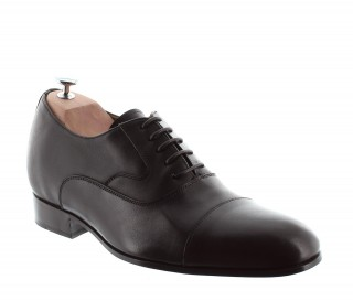 Elevator Oxfords Shoes Men - Brown - Full grain calf leather - +2.4'' / +6 CM - Brescia - Mario Bertulli