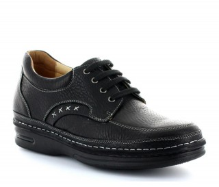 Terni Elevator Derby shoes black +7,5cm