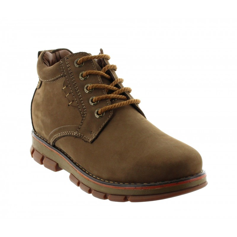 TRAPANI BOOTS BROWN +7CM