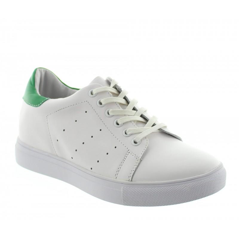 Elevator Sports Shoes Men - White - Leather - +2.0'' / +5 CM - Portovenere - Mario Bertulli