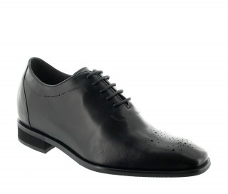 Elevator Oxfords Shoes Men - Black - Leather - +3.0'' / +7,5 CM - Varallo - Mario Bertulli