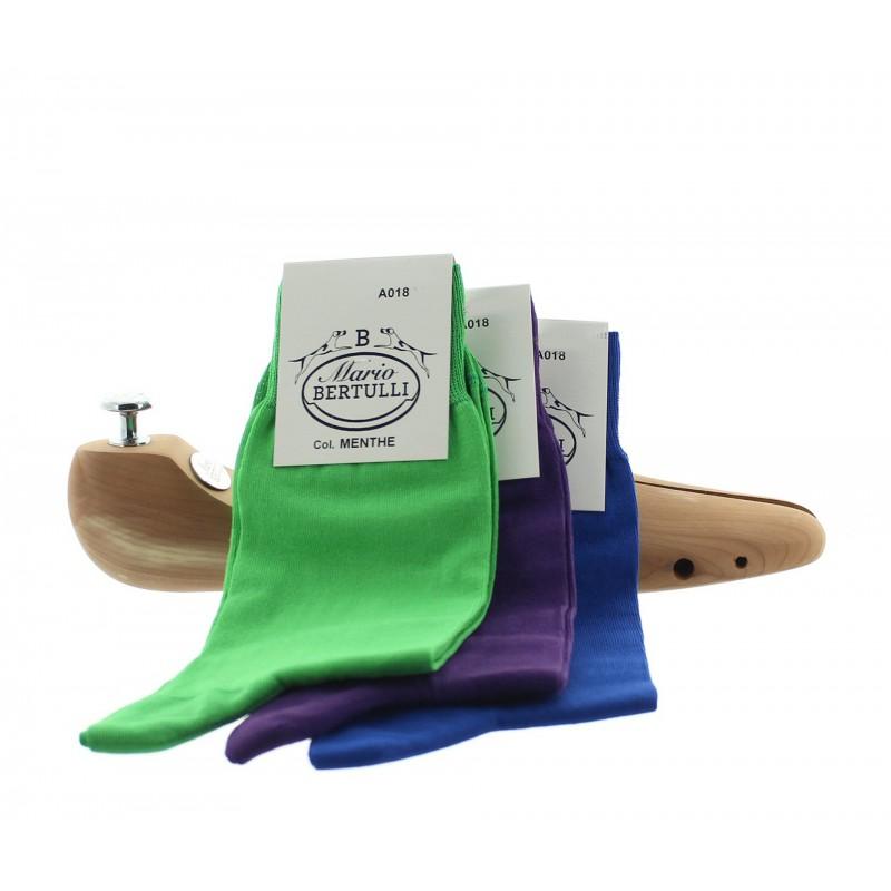 1 PACK OF 3 LISLE COTTON SOCKS - MINT/BLUE/PURPLE