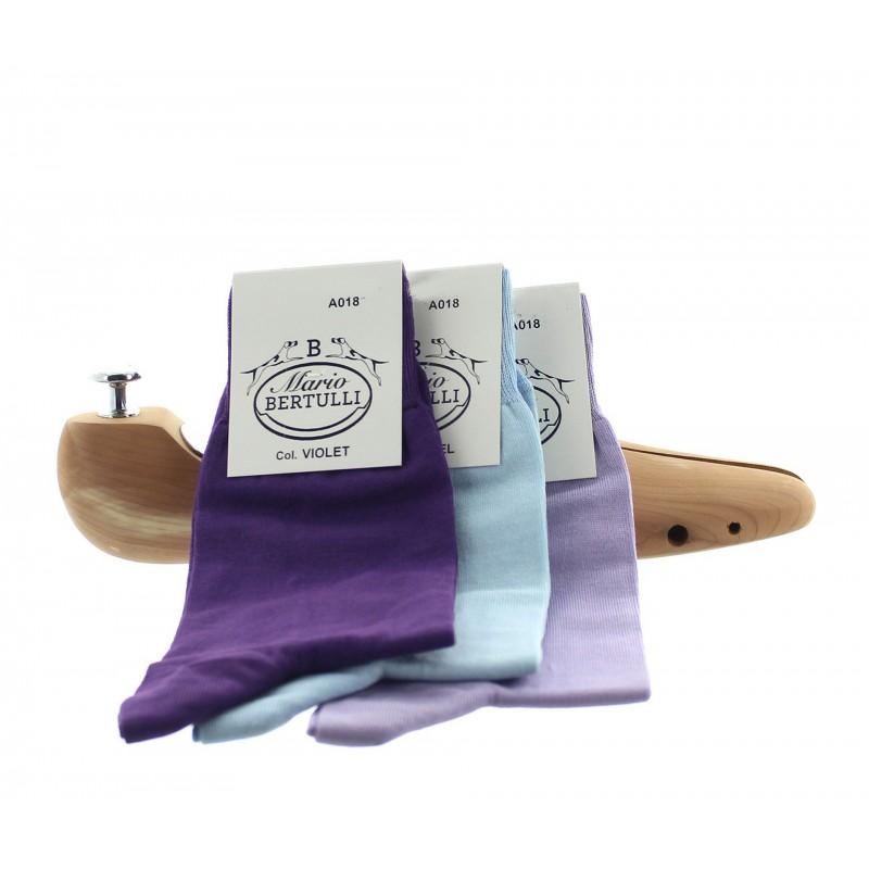 1 PACK OF 3 LISLE COTTON SOCKS - PURPLE/LAVENDER/BLUE SKY