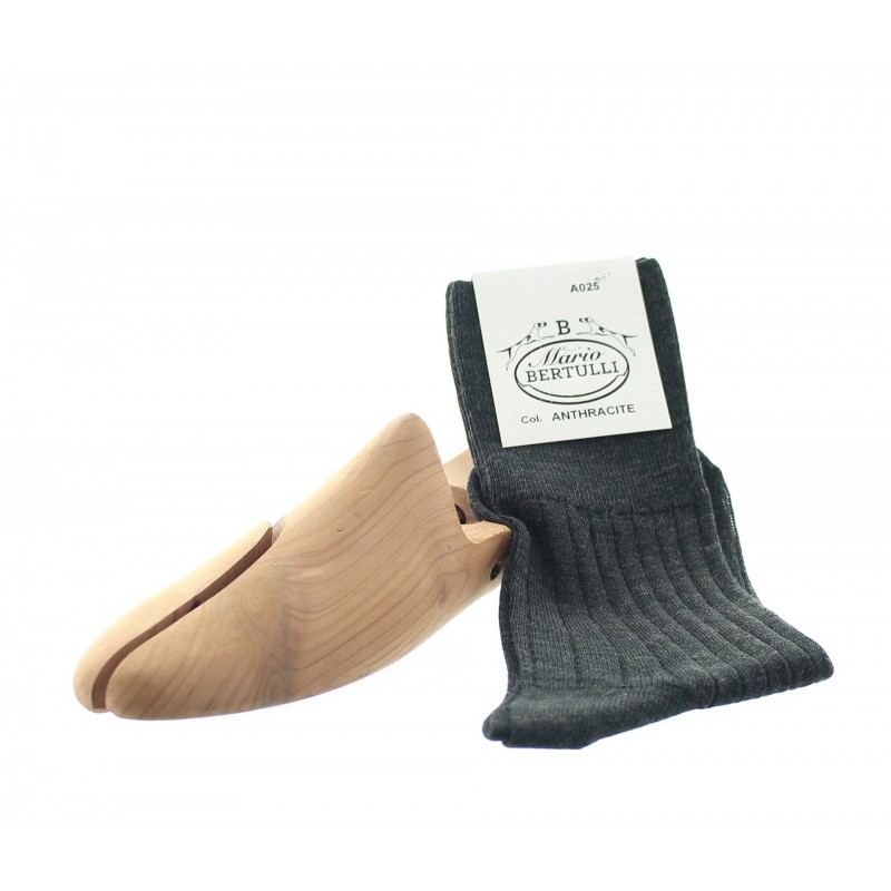 Anthracite socks - Luxury Wool Socks Men from Mario Bertulli - specialist in height increasing shoes
