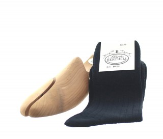Blue wool socks - Luxury Wool Socks Men from Mario Bertulli - specialist in height increasing shoes