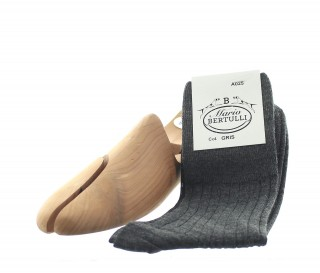 Grey wool socks - Luxury Wool Socks Men from Mario Bertulli - specialist in height increasing shoes