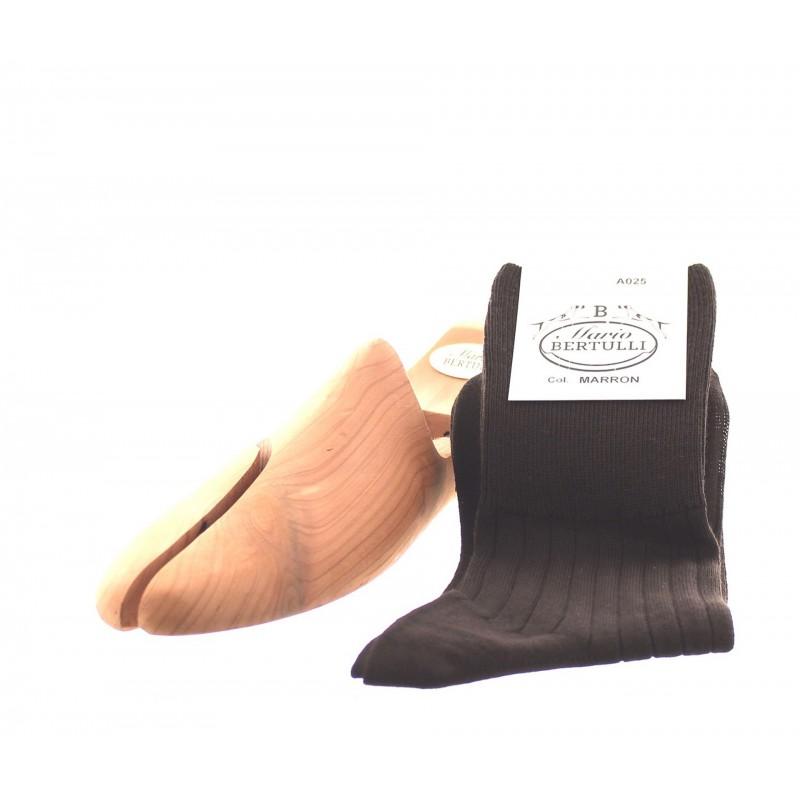 Brown wool socks - Luxury Wool Socks Men from Mario Bertulli - specialist in height increasing shoes