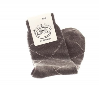 Brown wool/cachemire socks - Luxury Cashmere Socks Men from Mario Bertulli - specialist in height increasing shoes