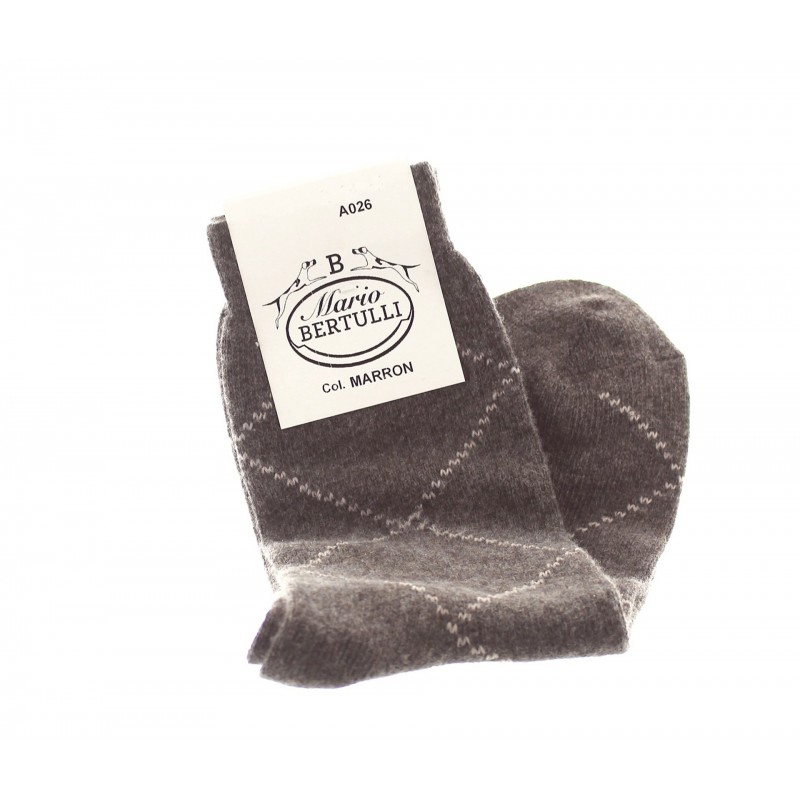 Brown wool/cashmere socks - Luxury Cashmere Socks Men from Mario Bertulli - specialist in height increasing shoes
