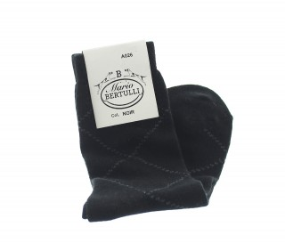 Black wool/cachemire socks - Luxury Cashmere Socks Men from Mario Bertulli - specialist in height increasing shoes