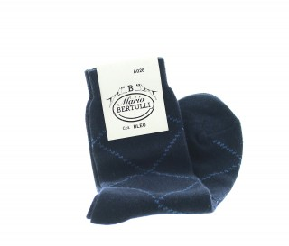 Blue wool/cachemire socks - Luxury Cashmere Socks Men from Mario Bertulli - specialist in height increasing shoes