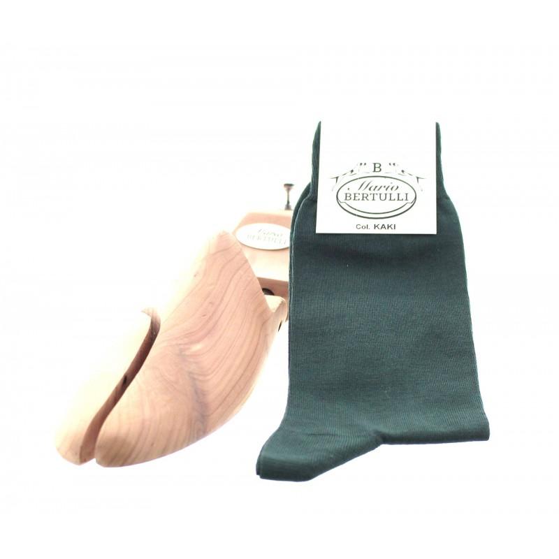 Kaki scottish lisle thread socks - Scottish Thread Socks from Mario Bertulli - specialist in height increasing shoes