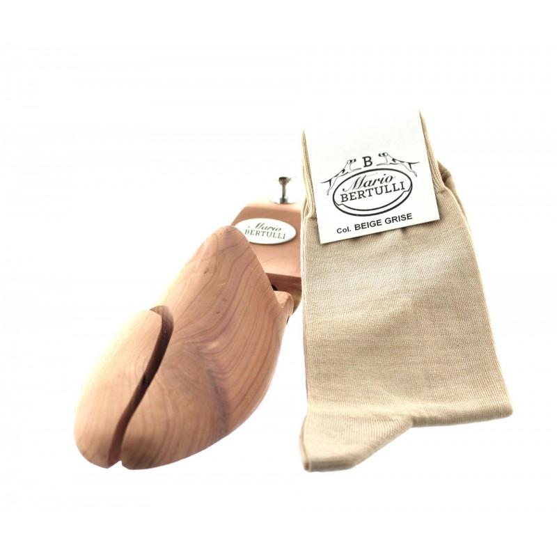 Beige/grey scottish lisle thread socks - Scottish Thread Socks from Mario Bertulli - specialist in height increasing shoes