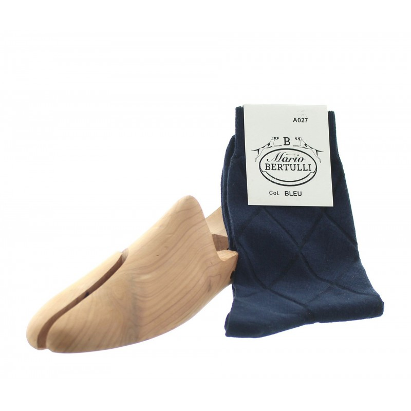 Blue cotton socks - Luxury Cotton Socks for Men from Mario Bertulli - specialist in height increasing shoes